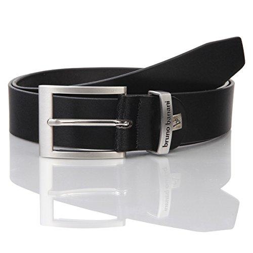 Ledergürtel Herren / Gürtel Herren Bruno Banani, Rindleder schwarz, 30012, Größe / Size:120;Farbe / Color:schwarz