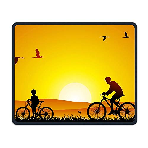 Smooth Mouse Pad Fahrradtour Vater und Kinder Mobile Gaming MousePad Work Mouse Pad Office Pad