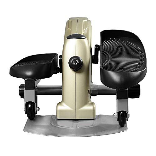 Mute Equipo de Ejercicio de pie Mini elíptico Mini elíptico Multifuncional Conveniente (Color : Beige, Size : 60x45x30cm)