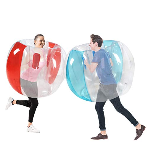 SUNSHINEMALL Bumper Balls for Adults 2 Pack, Inflatable Body Bubble Ball Sumo Bumper Bopper Toys, Heavy Duty Durable PVC Vinyl Kids Adults Physical Outdoor Active Play (36inch, Upgrade red+Blue)