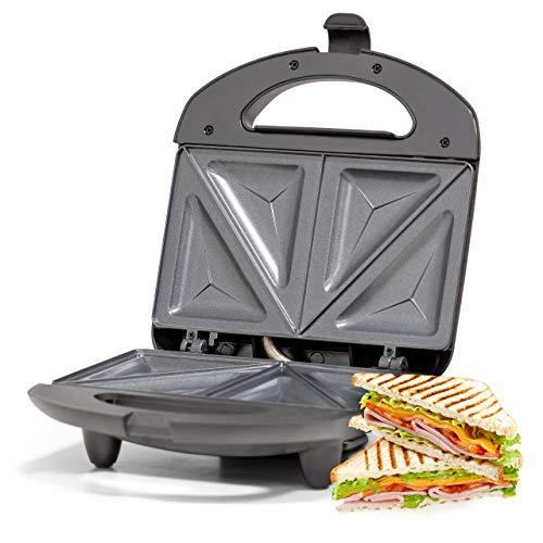 Ufesa SW7860 - Sandwichera 750W, Placas antiadherentes, Sellado Perfecto, Sin BPA, INOX