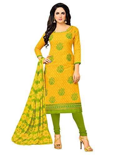 Applecreation Women's Cotton Unstitched Salwar Suit