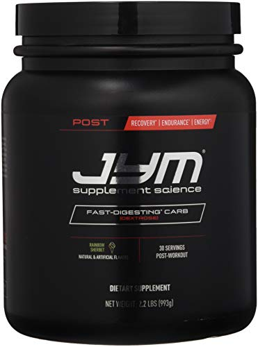 JYM Supplement Science Post Carb Rainbow Sherbert Powder, Pack of 30