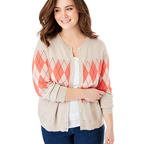 Argyle Cardigan Sweater - 2