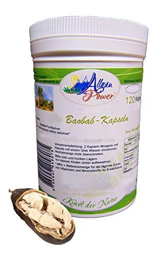 Baobab Kapseln - 2 x 120 (240) Stück - a 650 mg pro Kapsel - Vitamin und Ballaststoff Quelle