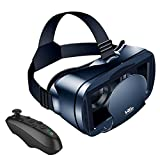"""VR Headset with Controller, VR Glasses Compatible with 4.7""""-6.53"""" iPhone & Android Phone, 3D HD Virtual Reality Headset with 120° Anti-Blue Light Eye Protected Lens for Kids & Also Adults"""