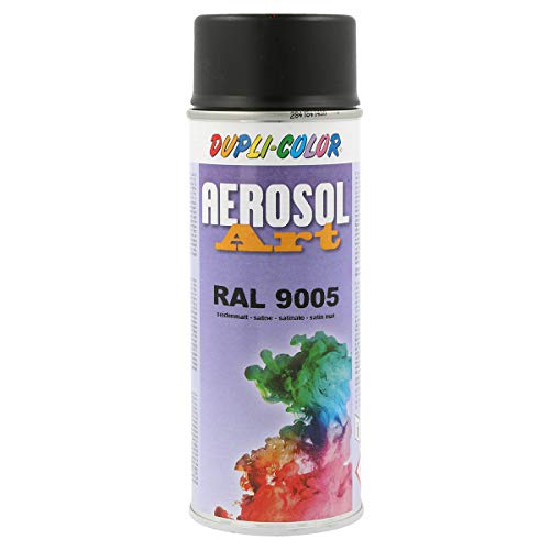 Duplicolor 655814 Aérosol Art Ral 9005 Sa tin, 400 ml Noir