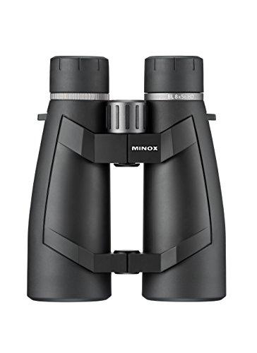 MINOX BL HD 8x56 Fernglas mit Komfortbrücke – Hochleistungs-Fernglas - auch für Nachtbeobachtung und Nachtansitz – Inkl. Neopren-Trageriemen, Bereitschaftstasche, Objektiv- & Okularschutzdeckel