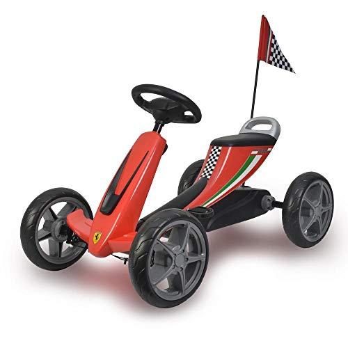 ROJO Kart para niños con licencia de Ferrari con pedal EVA Ruedas Palanca de freno Embrague C8931