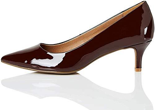 Marca Amazon - find. Connie-s2c1-court - Zapatos de tacón con punta cerrada Mujer