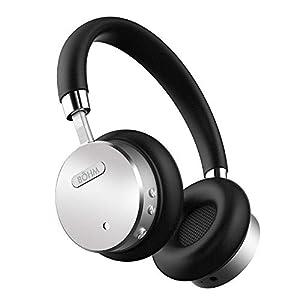 BOHM Wireless On-Ear Noise Canceling Headphones Black Silver BOHM B66