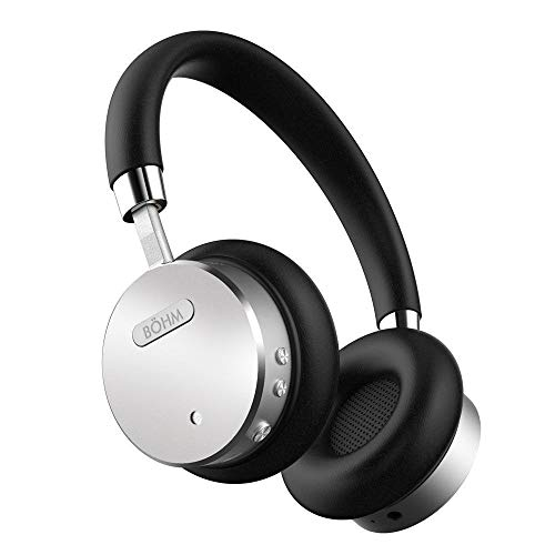 BÖHM Bluetooth Wireless Noise Cancelling Headphones with Inline Microphone - Black / Silver