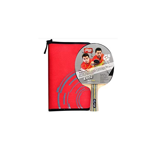 Fantastic Deal! HUIJUNWENTI Table Tennis Racket, Horizontal Shot, Double-Sided Anti-Adhesive Arc Com...
