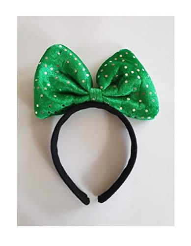 B763068 Verde con lentejuelas, diadema para nios y mujeres