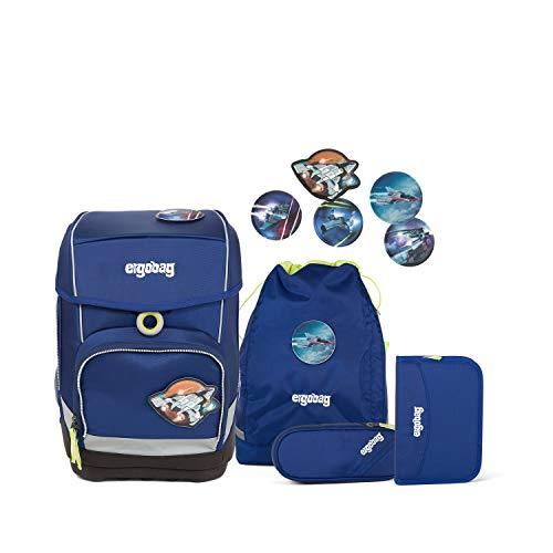 Ergobag cubo BlaulichtBär, ergonomischer Schulrucksack, Set 5-teilig, 19 Liter, 1.100 g, BLAU