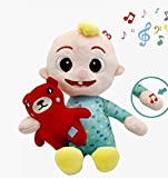 Co Comelon Musical Bedtime Cartoon JJ Doll, Soft Plush Body – Press Hand and JJ Sings Clips from 'Yes, Yes, Bedtime Song,' – Includes Feature Plush and Small Pillow Plush Teddy Bear – Toys for Babies