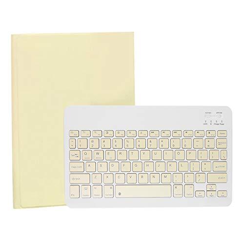 Fransande TY3311 - Funda de teclado para teléfono móvil y tablet de 9 a 11 pulgadas, funda universal para teclado, color amarillo