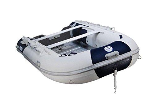 Prowake Schlauchboot AL380: 380cm lang mit Alu-Boden - blau/weiß - für bis zu 6 Personen