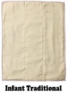 OsoCozy Organic Prefold Diaper (each), Infant 3x6x3, fits 7-15 lbs.