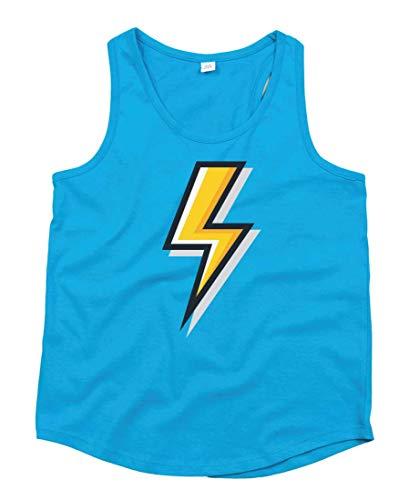 Camiseta de tirantes de color amarillo eléctrico, de Blitz, unisex, para niños...