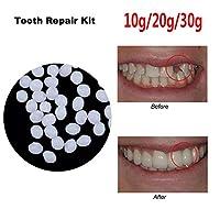 義歯固体接着剤、10g / 20g / 30g一時的な歯の修復キット、偽の歯のための交換用熱接着フィッティングビーズ,30g
