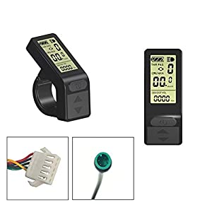 Electric Bikes RICETOO Electric Bicycle 24/36V/48V Small Intelligence Mini KT-LCD4 Display LCD Control Panel SM/Waterproof Plug E-bike Accessories