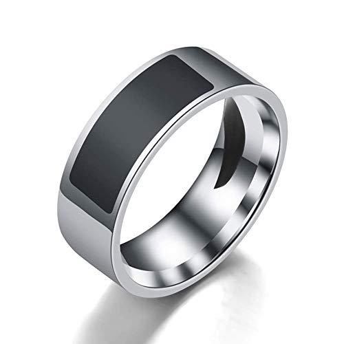 Smart NFC Ring, Wasserfest Digital Mode Ring - Smart Zugriff Kontrolle Intelligent Finger NFC Ring - für Alle Android und Windows NFC Mobil - Schwarz, Size 10
