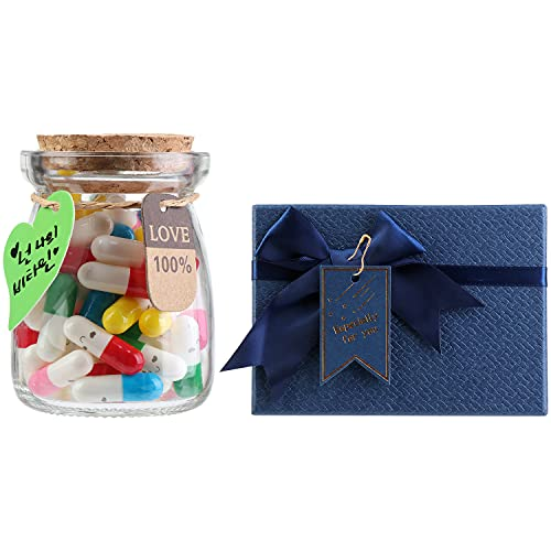 50pcs Capsule Letters Message in a Bottle,Love Letter for Anniversary,Birthday,Valentines...