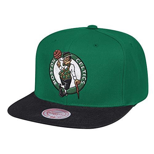 Mitchell & Ness Boston Celtics 2-Tone Hardwood Classic Snapback Hat Green/Black