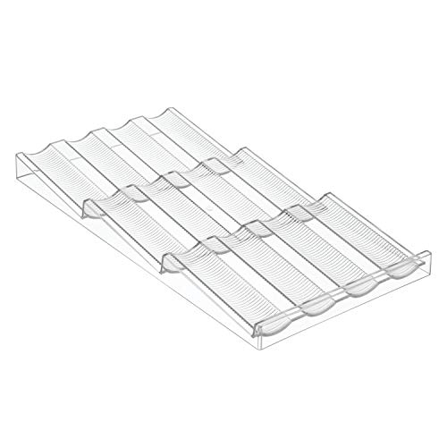 iDesign 66220EU Linus Gewürzregal, Schubladen-Organizer für die Küche - Durchsichtig, 20, 42 x 39, 5 x 2, 95 cm, clear, plastik