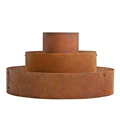 GXK Pflanzpyramide Hochbeet Pflanzring Kräuterspirale Edelrost Rost Ø 40/80/120 cm