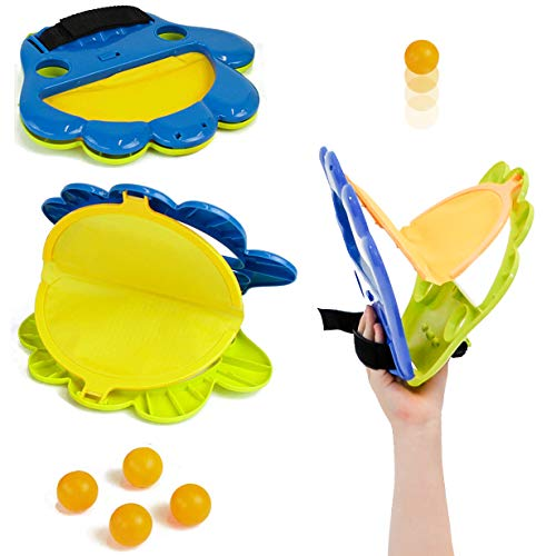 Taylor Toy Pop and Catch Indoor Game for Kids - Hand Ping-Pong Launcher - Indoor, Backyard & Beach Game - Kids Catch Game