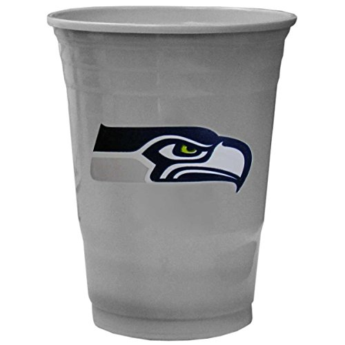 NFL Siskiyou Sports Seattle Seahawks Plastic Game Day Cups, 18 Count, (18 oz) Team Color
