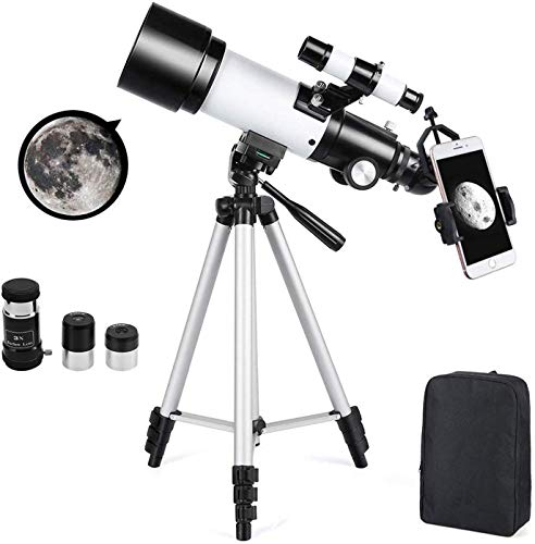 Astronomical Telescope 70mm Astronomy Refractor Telescopes with Backpack Outdoor Merkmak Telescope with Tripod - Perfect for Children Adults Educational and Gift(Large)