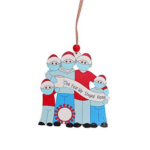 Eastdall Decoração De Casa,Decoração de árvore de Natal Sobreviveu à família enfeite de natal pendurado decoração de casa