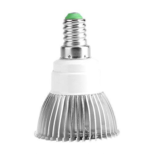 Asixx Lámpara de Crecimiento, Full Spectrum E27 / E14 / GU10 Bombilla de luz LED con 18 LED para Planta de Hidroponía de Interior de Flor Veg, 85-265V 18W(E14)