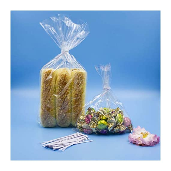 """Easytle 5"""" Paper White Twist Ties 100 Pcs 4 ★MULTIPLE USES 5"""" long, 0.16"""" wide, 1000 pieces. This is the preferred size for many uses including crafts, cords, cables, gardening plants and much more. Zip bags for bread, baked goods, storage, packing, garbage and trash. ★HIGH QUALITY these are ultra durable with an inner metal wire core. They hold up well for heavy duty use, home, business, industry and much more. These will last for years and can be reused many times. ★1000 PIECE SET to give you all the twist ties you need for every application. They store compactly and are there for you every time you need a top quality twist ties to organize and maintain cords, wires, possessions, deserts, snacks, and an endless array of uses."""