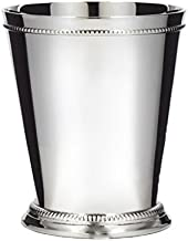 Klikel Mint Julep Cup - Moscow Mule - Kentucky Derby - Classic Beaded Trim Border –stainless Steel 12oz Set Of 4