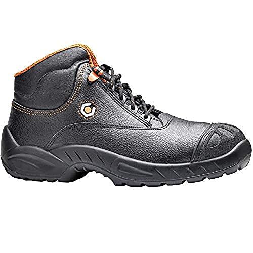 Base Protection, PRADO Calzado de Seguridad para Hombres y Mujeres, Negro y Naranja, Talla 40