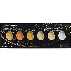 Kuretake Gansai Tambi Starry colors 6 color set