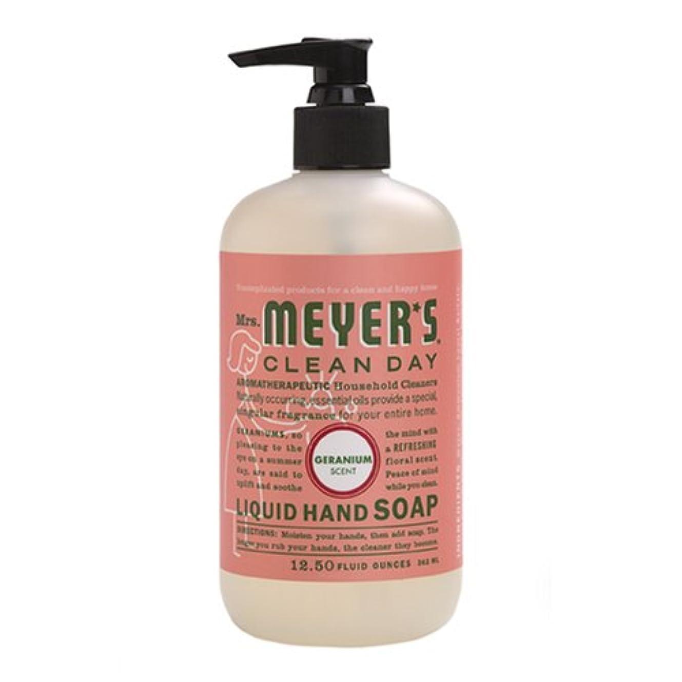 つまらない動力学見えないMrs. Meyers Clean Day, Liquid Hand Soap, Geranium Scent, 12.5 fl oz (370 ml)