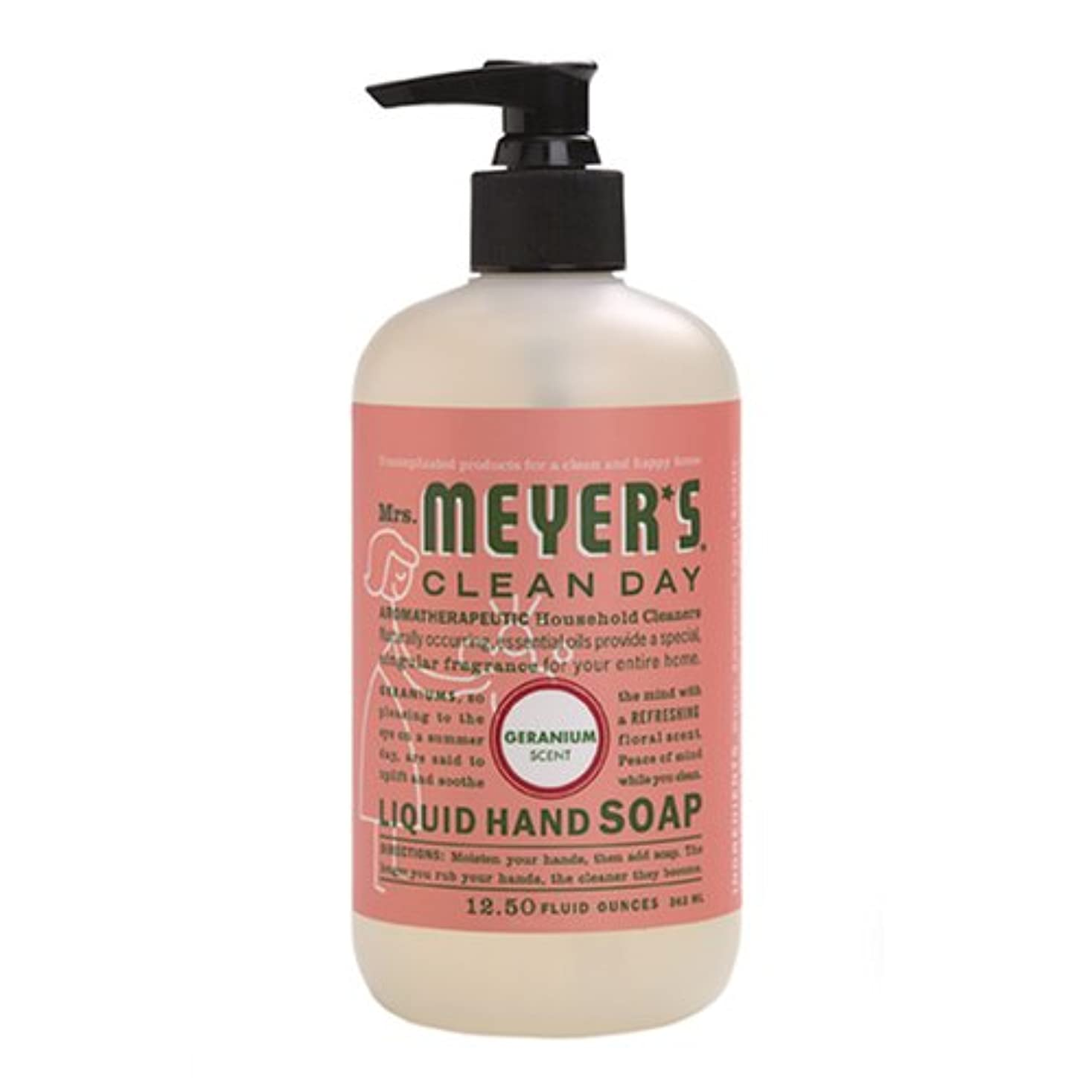 六分儀熟達した不機嫌Mrs. Meyers Clean Day, Liquid Hand Soap, Geranium Scent, 12.5 fl oz (370 ml)