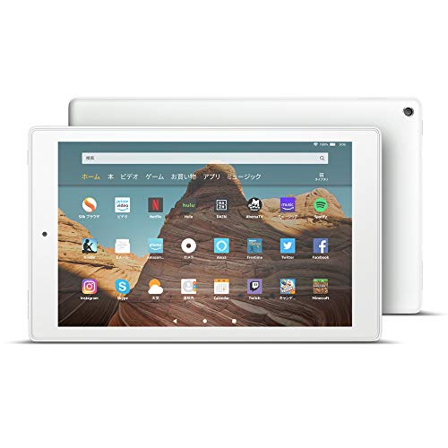 Fire HD 10 タブレット ホワイト (10インチHDディスプレイ) 32GB + Kindle Unlimited(3か月分。以降自動更新)