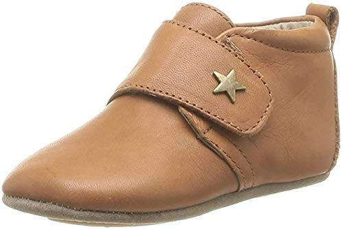 Bisgaard Unisex Baby Velcro Star Pantoffeln, Braun (66 Cognac), 22 EU