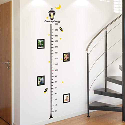 ZXFMT Hauteur Autocollant Street Light Hauteur Mesure Stickers Muraux Matériel PVC Stickers Muraux DIY pour Chambres d'enfants Bébé Chambre Décoration