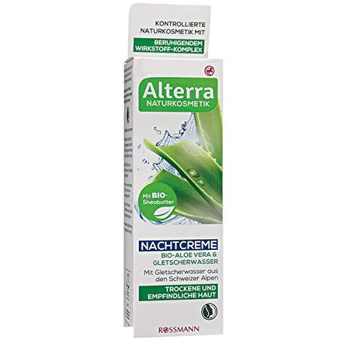 Alterra Nachtcreme Bio-Aloe Vera & Gletscherwasser, 50 ml