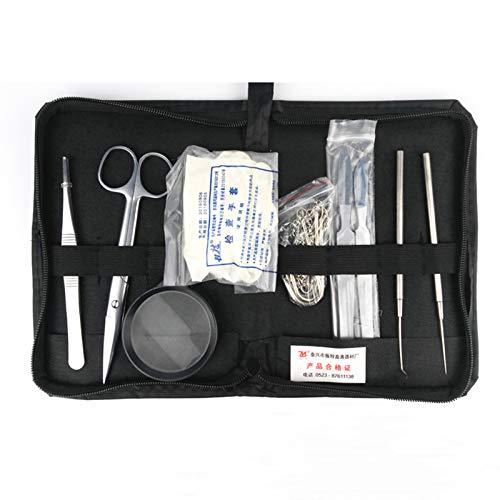 BZZBZZ Kit de disección de 10 Piezas Paquete de Instrumentos quirúrgicos Acero Inoxidable Utilizado para Que los Veterinarios disecten Animales pequeños como Conejos