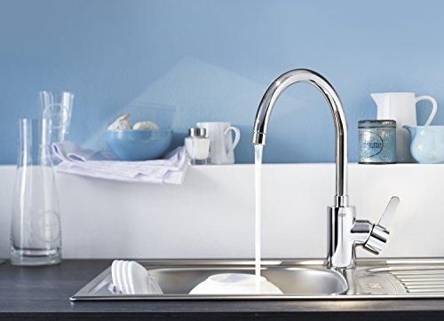 Grohe Eurosmart Cosmopolitan Küchenarmatur (hoher Auslauf, Schwenkbereich wählbar, Niederdruck) 31180000 - 5