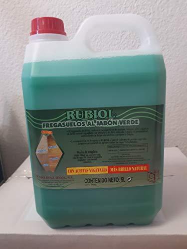 RUBIOL FREGASUELOS NEUTRO AL JABON VERDE 5LT. (CAJA DE 2 UDS.) TOTAL 10 LITROS