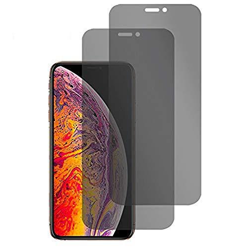 BelloCase Privacy - Protector de Pantalla Compatible con iPhone X/iPhone XS, Privacy antiespía de Cristal Templado, película antiespía Protectora Anti espía